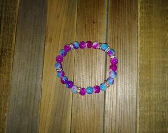 Very nice glass beaded handmade bracelet!