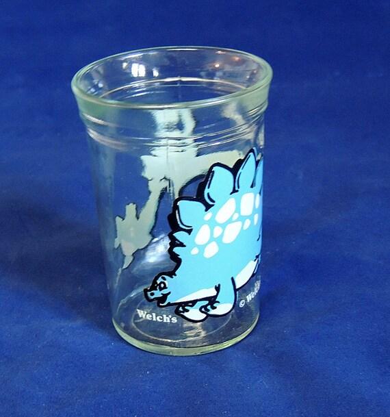 Vintage Welch's Jelly Jar Glass.. 1988 STEGSAURUS