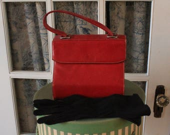 Vintage Oxblood Red Leather Purse