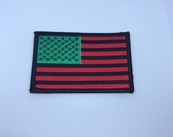 African American Flag iron on Patch Black RBG David Hammon Harlem
