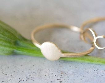 Flat ring, 14k gold, delicate ring, 14k gold simple ring, wedding ring, engagement ring, stackable rings, minimalist ring, solid gold ring