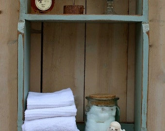 Wood Furniture Storage - Shelf - Shabby - Cottage Chic Decor - Bathroom - Kitchen - Bookshelving - Home - Shelving - Organize - Bath
