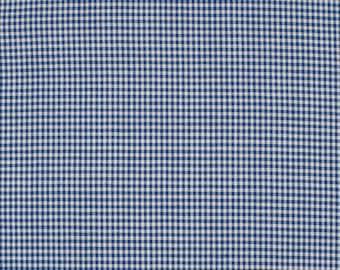 Gingham blue 2mm 100% cotton