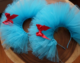 2 x Headbands - Thing 1 and Thing 2