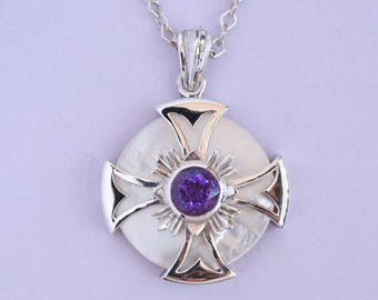 Maltese Cross, Templar Pendant, Cross necklace