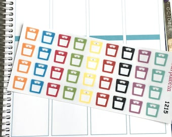 Scale Planner Stickers, Weigh-in Stickers,  1215