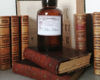"""For the bibliophile apothecary bottle model HP """"Felix Felicis"""" / Literary apothecary bottle for book lovers"""