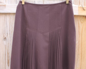 Vintage Style Pleated Knee Skirt