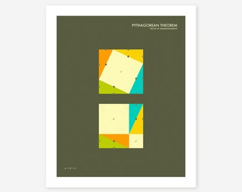 PYTHAGOREAN THEOREM (Giclée Fine Art Print/Photo Print/Poster Print) dark version