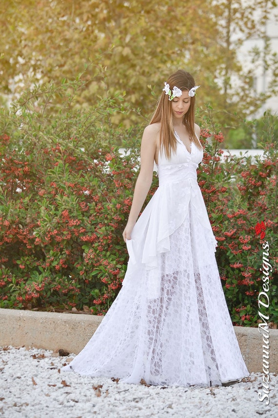 Wedding Gown SuzannaM Designs Assymetric Wedding Dress