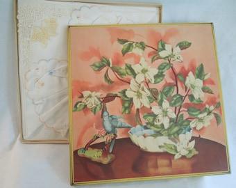 Vintage Handkerchief Set in Original Box