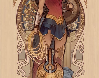 "Diana - Wonder Woman - signed 11x17"" poster"