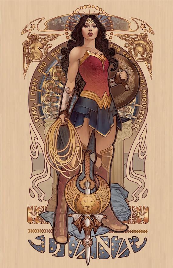 Diana - Wonder Woman - signed 4x6 mini print