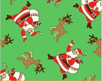 Storybook Christmas Green Santa Claus 41750-2 by Whistler Studios for Windham Fabrics