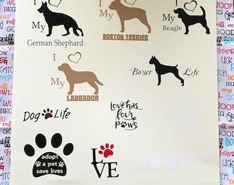 Dog & Cat Lover Decals