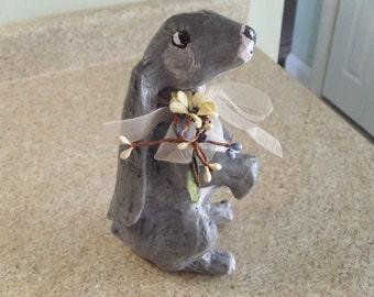 Paper Mache bunny rabbits