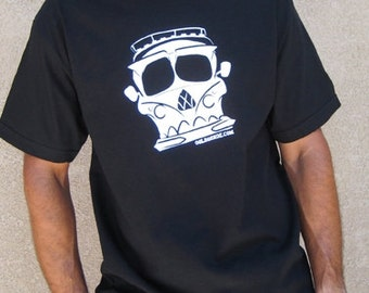 VW Bus Skull T-shirt - Exclusive Design, Black