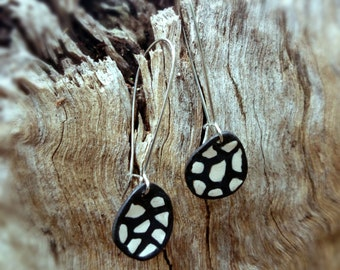 Polymer Clay 'Cobblestone' Dangle Earrings