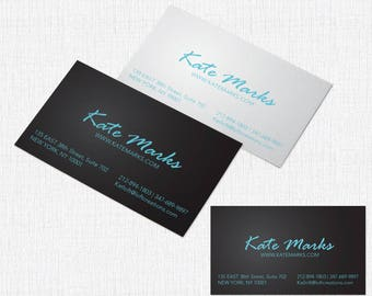 100 Business Card Single sided 2 x 3.5 - Style Kate