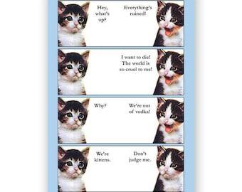 Vodka Kittens - JOURNAL - Humor - Gift