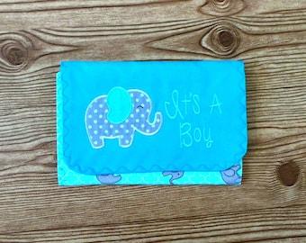 Diaper & Wipe Clutch/Small Diaper Bag/Teal Diaper and Baby Wipe Clutch/Mini Nappy Bag/Travel Small Diaper Bag/Diaper and Wipe Organizer
