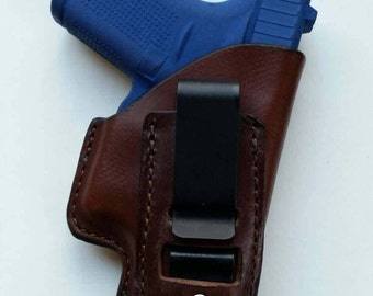 Glock 42 Leather Holster ( Inside The Waistband)