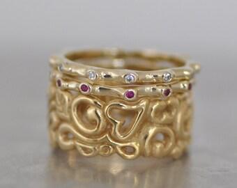 Fine jewelry gold and gemstones jewelry by malkaravinajewelry