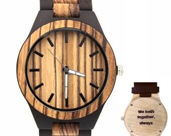 Customized wooden clock man. Customizable wooden clock Bölbo® Evan
