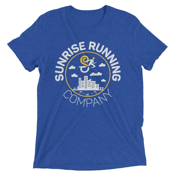 Men's Run Your City TriBlend T-Shirt - City Runner - Men's Short Sleeve Running Shirt