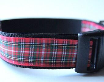Dog Collar Plaid Adjustable Sizes (M, L, XL)