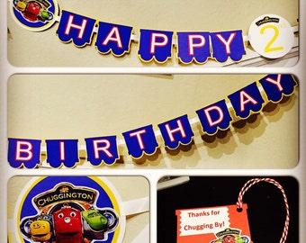 Chuggington Happy Birthday Banner
