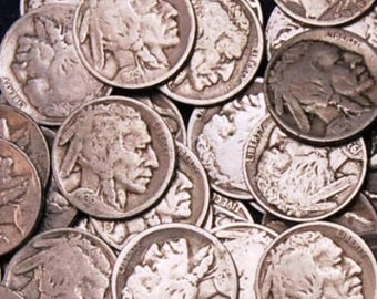 40 Buffalo Nickels (1 roll)
