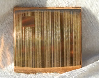 Vintage Small Square Gold Tone Unused Condition Stratton Powder Compact Mirror Unused Condition Bridesmaid Birthday Gift