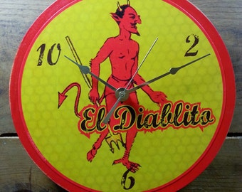 Loteria El Diablito Wall Clock