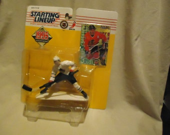 Vintage 1995 Kenner Starting Lineup Chris Chelios Action Figure With Card In Sealed Package, collectable, Hockey