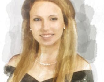 Custom portrait painting from your Photograph...this is Taylor