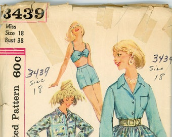 ORIGINAL Vintage Simplicity Sewing Pattern - #3439- 1960s - UNCUT - FFOLDED