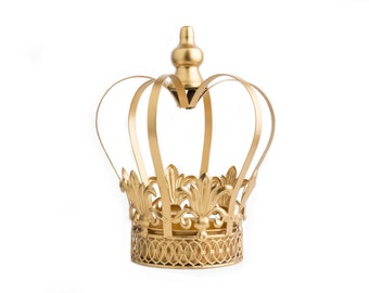 Gold Crown Centerpiece, Gold Crown, Large wedding cake topper