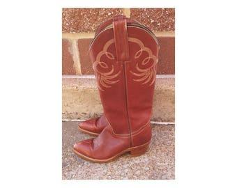 Frye Tall Western Vintage Boots Sz 6