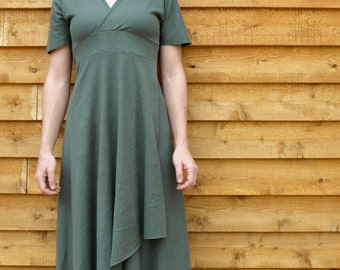 Full Length Dress,  Hemp, Organic Cotton