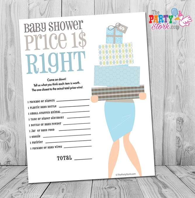 Baby Shower Games Boy Baby Shower Games The Price Is Right