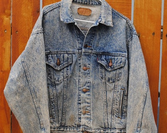 Late 70s to Mid 80s Levi's 70507 Trucker Denim Jacket Size Large