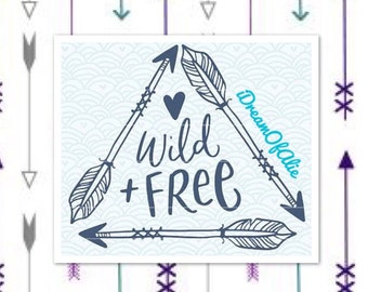 Wild and Free Triangle Heart Arrows SVG Cut File