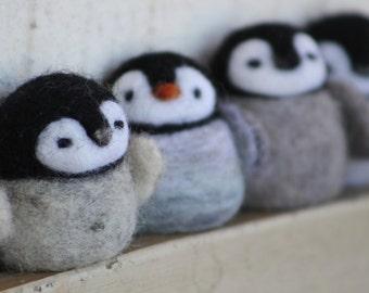 Little penguin needle felted