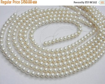 on sale AAA quality Pearl Round Shape 7 mm  16 inch strand approx