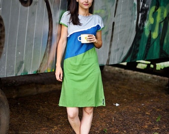 Short Sundress Green Midi Dress, Cotton Green Dress, Short Summer Dress, Short Dresses, Asymmetric Dresses, Summer Dress Short Green Dress