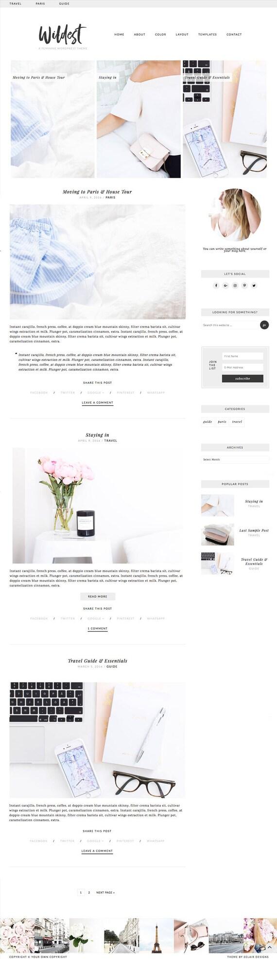 Charmant Minimalistische Blog Vorlagen Galerie - Beispiel Business ...