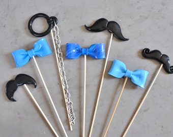 """photobooth lot accessories """"blue for him"""""""