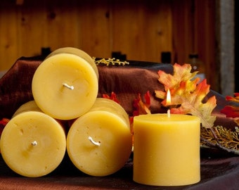 3 x 4 Inches Pillar Beeswax Candle