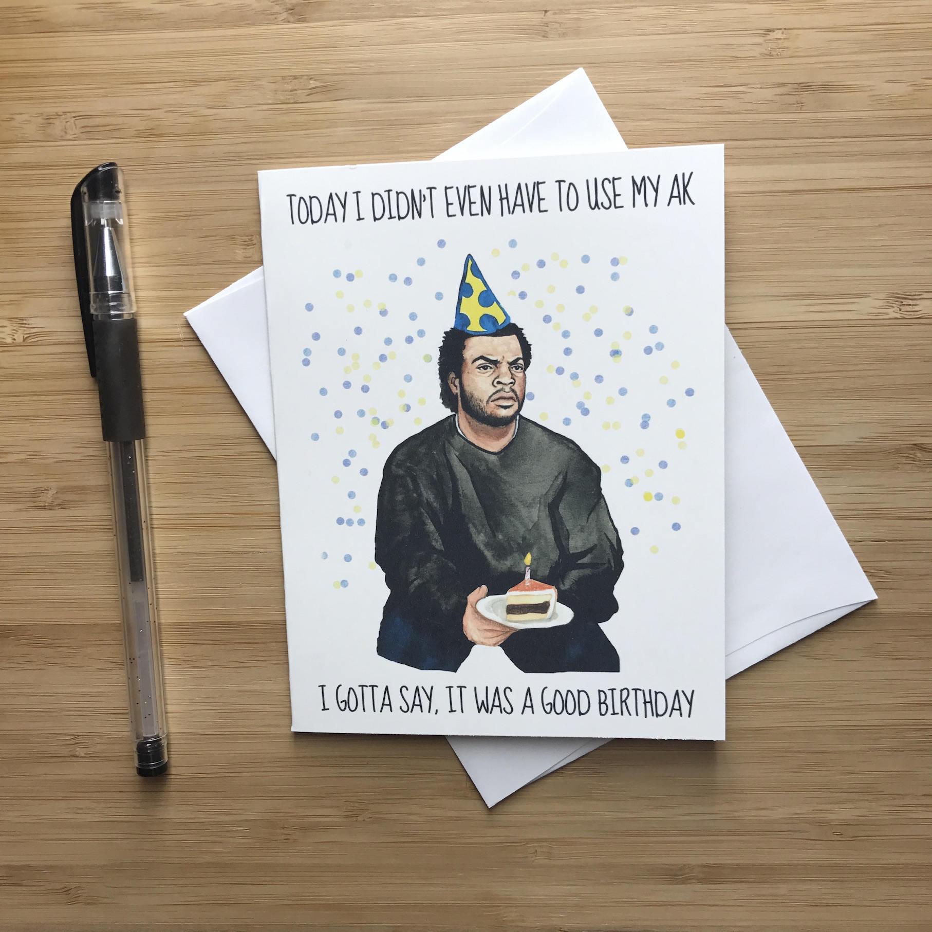 90s Rap Birthday Card Funny Hip Hop Birthday Card Rap Music